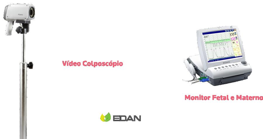 Vídeo-Colposcópio-e Monitor-Fetal-Materno-Edan-SC Medical
